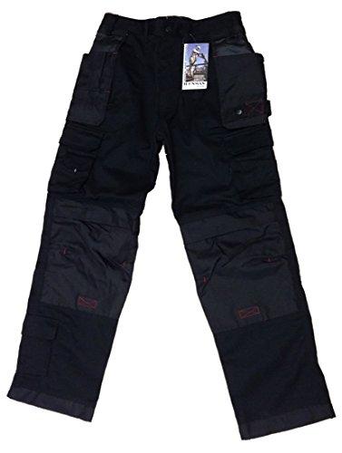 Ironman Arbeit Kaufleute verstärkte Industrie Workwear vielen Taschen Hose Gr. 50, schwarz -