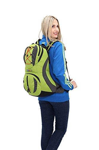 Diamond Candy Zaino da Trekking Outdoor Donna e Uomo con Protezione Impermeabile per alpinismo arrampicata equitazione ad Alta Capacit¨¤ borsa da viaggio,Multifunzione,22 litri Blu Verde