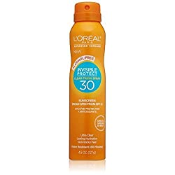 LOreal Paris Advanced Suncare Alcohol-Free Clear Spray SPF 30, For All Skin Types, 4.5 Ounce