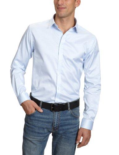 JACK & JONES PREMIUM, Herren Hemd mit Manschetten Slim Fit 12020857 Andrew Shirt L/S ,Blau (SHIRT BLUE), 44 (X-Large)