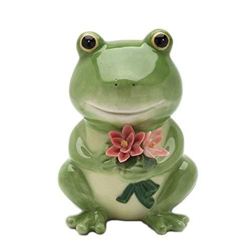 COSMOS Frosch Spardose aus Keramik, 12,7 cm hoch 12,7 cm -