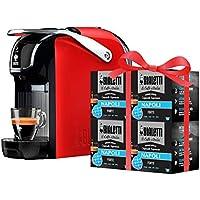 Bialetti Macchina Caffè Espresso Break (super compatta) per Capsule in Alluminio sistema Bialetti il Caffè d'Italia, Red + 64 CAPSULE OMAGGIO