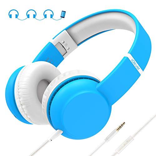 iClever Kopfhörer Kinder,Kopfhörer für Kinder mit Lautstärke Begrenzung Gehörschutz & Musik-Sharing-Funktion, Faltbarer Kopfhörer für iPod iPad iPhone Android Handy PC MP3 MP4