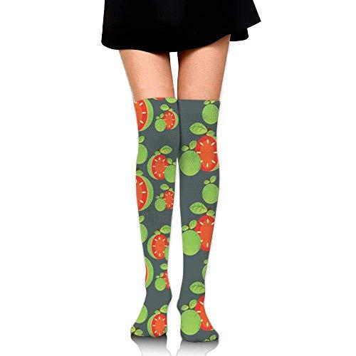 HRTSHRTE Women Multicolor Elephant Prints Tube Socks Over The Knee Thigh High Stockings for Girls High Long Soccer Socks -