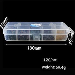 Zantec Carp Fishing Tackle Set/Kit Tackle Anti Tangle Sleeves Tail Rubbers Pin Set with Box 120pcs by Zantec