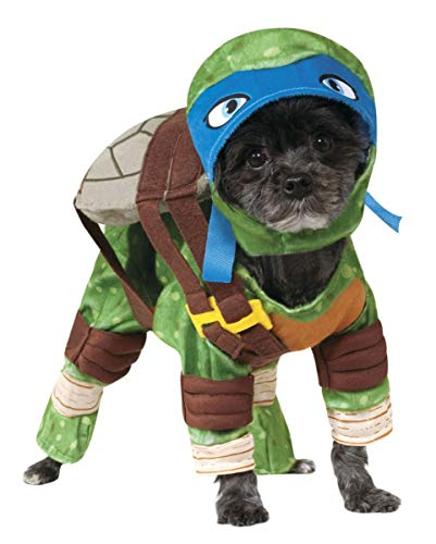 Horror-Shop Leonardo Ninja Turtle Hundekostüm für Halloween & Karneval XL