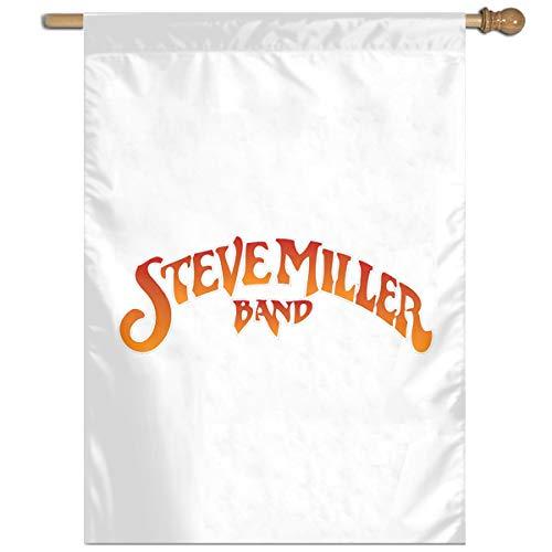 YYTEBBBX Steve Miller Band Gartenflagge, weiß, Einheitsgröße - Alle Hut 49ers Schwarzen