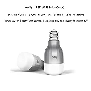Ollivan Xiaomi Bombilla LED Control Remoto Inteligent Bombilla WIFI Brillo Ajustable Bulbo LED E27 9W Blanco (Multicolor)