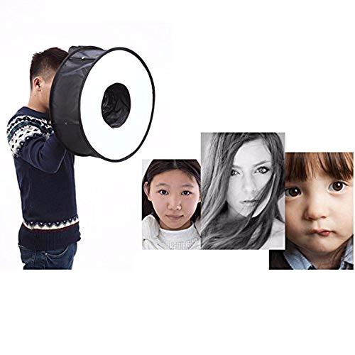 WANGLAI Tragbare Faltbare Runde Speedlite Softbox mit Aufbewahrungstasche/Speedlite Tuch/Kamera Speedlite Flash Softbox Diffusor