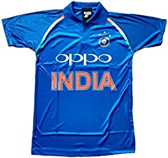 HeadTurners Indian Cricket Team ODI Jersey- Blue