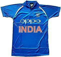 HeadTurners Indian Cricket Team ODI Jersey T-Shirt- Blue