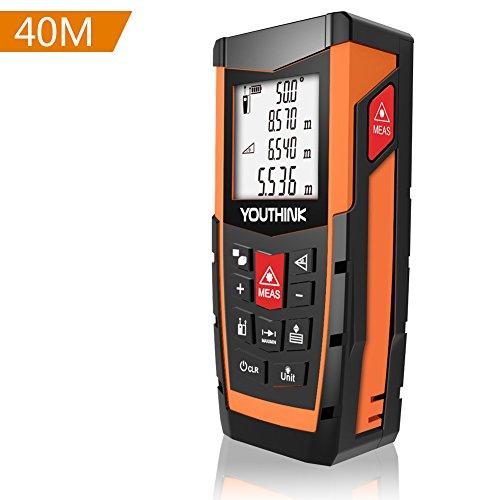 Laser Entfernungsmesser mit Integrierte Digital Wasserwaage Bequemer und Genauer für Entfernungsmessung Messbreich 0,05~40m/±2mm