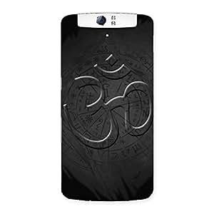 Special Om Grey Back Case Cover for Oppo N1