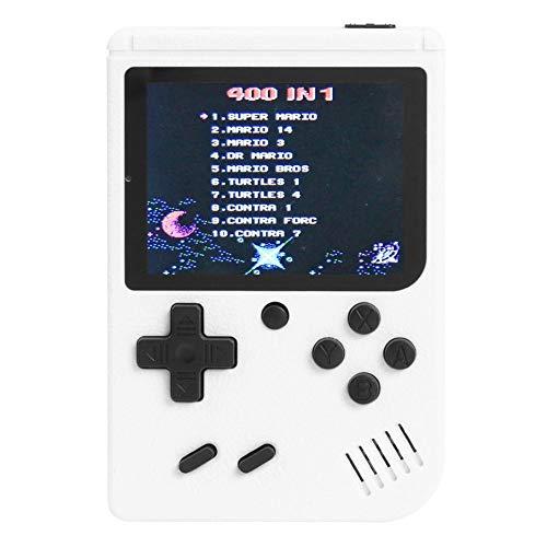 Yanten 3-Zoll-Handheld Retro Fc Game Console 400 Spiele 8-Bit-Game-Player (Weiß)