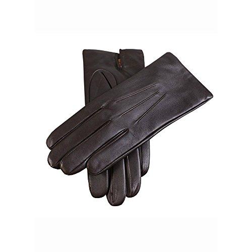 Des bosses–Classic Pantalon doublé en cachemire gants en cuir Marron - Marron