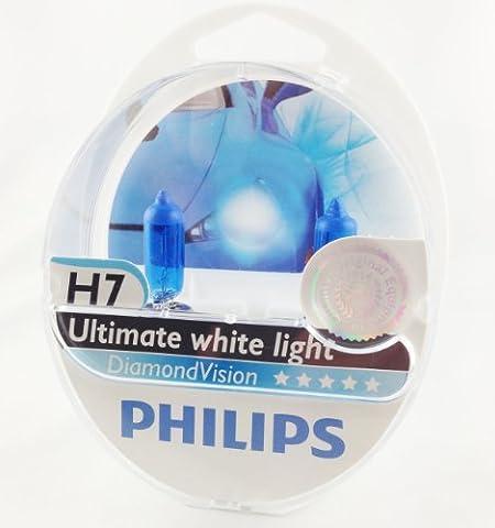 AMPOULES DE PHARE MISE À NIVEAU PHILIPS DIAMOND VISION H7 (PACK 2PCS)