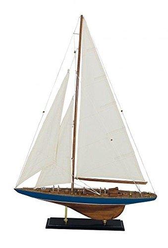 Preisvergleich Produktbild Nostalgie Segelyacht, J Klasse, Modell einer Yacht aus altem Material