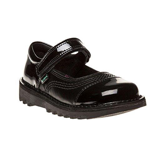 Kickers Kick Pop Patent Infants Chaussures Noir