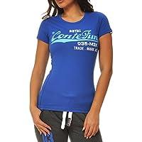 M.Conte signore T-shirt manica corta T-shirt sudore neon rosa Viola Grigio Blue Rose Rosso Verde Nero S M L XL