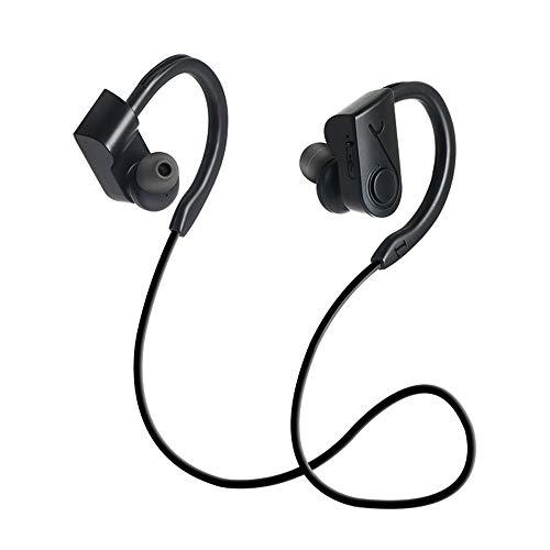 2019 audífonos inalámbricos Bluetooth 4.2 in-Ear Banda para Cuello micrófono Deportes para iPhone/Samsung Free Negro