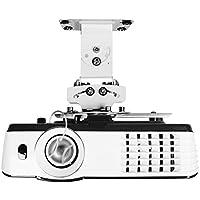 Duronic PB05XB Support vidéoprojecteur Universel inclinable et Rotatif - Capacité 13,6 kg - Installation Plafond - Idéal pour Home cinémas, Jeux vidéos, présentations, conférences