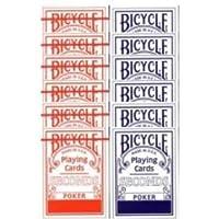 Caja de barajas BICYCLE Second (6 Azul - 6 Rojo)