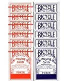 Bicycle Karten-Set Second (6 x Blau – 6 x Rot)