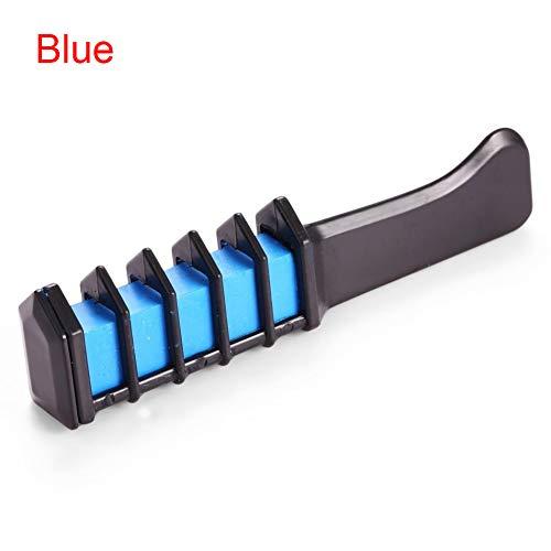 Peine de tiza para el pelo - Color instantáneo de tiza para el pelo, peine de tiza con pelo desechable...