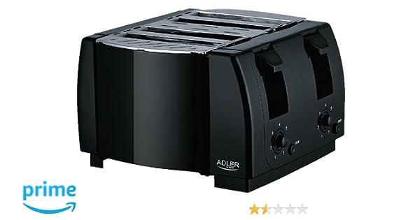 Mini Kühlschrank Mit Scheibe : Amazon.de: adler toaster 4 slice 1300w schwarz