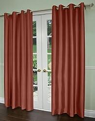 Alyssa Joy Hdt Shantung Blackout Scarlett Thermal Grommet Curtain