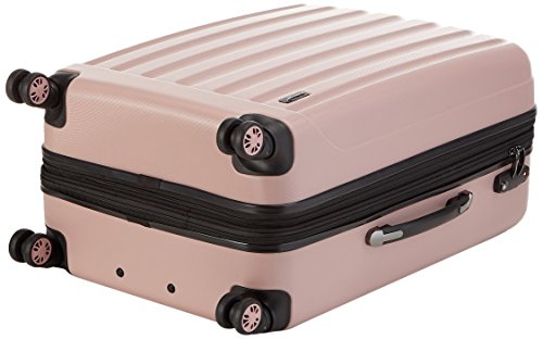 Packenger Koffer - Velvet (XL), Mauve, 4 Doppelrollen, 112 Liter, 72cm, Koffer mit TSA-Schloss, Erweiterbarer Hartschalenkoffer (ABS) robuster Trolley Reisekoffer - 5
