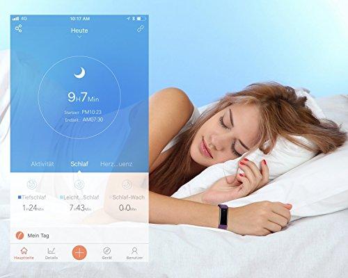 TOOBUR Schrittzähler Fitness Armband Uhr, IP67 Wasserdicht Fitness Tracker Smart Watch mit Herzfrequenz Schlafmonitor und Kalorienzähler, Aktivitätstracker Armbanduhr für Damen Herren - 6