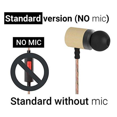 LUFA KZ ED7 Bambus Holz Kopfh?rer 3,5 mm HD HiFi In Ear Kopfh?rer Ohrh?rer Headset Monitor Bass Stereo Ohrh?rer