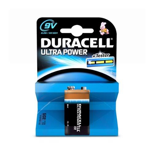 Duracell Batterie Ultra 9 Volt-Block (6LR61) im 1er Pack 9v Volt Duracell Batterien