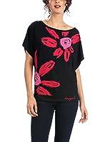 Desigual Dolores - T-shirt - Imprimé - Col rond - Manches courtes - Femme