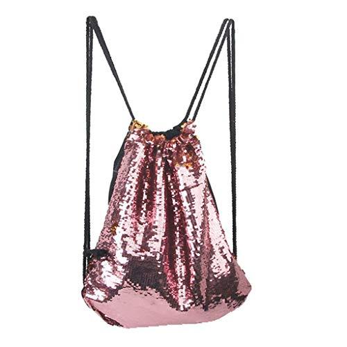 Mitlfuny handbemalte Ledertasche, Schultertasche, Geschenk, Handgefertigte Tasche,Jungen-Mädchen-Paillette-bunter Paket-Beutel-Reise-Prinzessin Bling Backpack For child