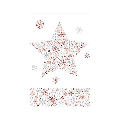 Susy Card 40003245 Weihnachts-Mitteldecke, Softdecor bedruckt, 1 Stück, eingeschweißt, 80 x 80 cm, Motiv: Frozen star rot
