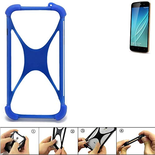 K-S-Trade Handyhülle Allview P6 Lite Silikon Schutz Hülle Cover Case Bumper Silikoncase TPU Softcase Schutzhülle Smartphone Stoßschutz, blau (1x)