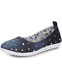 TRASE Star-Canvas Ballerinas for Women/Ladies