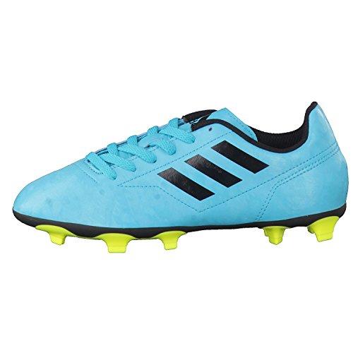 adidas Conquisto Ii Fg J, Chaussures de Football Garçon Multicolore (Energy Blue S17/core Black/solar Yellow)