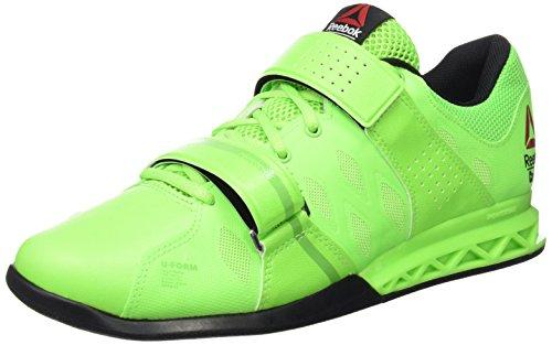 Reebok R Crossfit Lifter Plus2.0, Zapatillas de Deporte Hombre, Verde / Negro (Solar Green/Bright Green/Black), 40 1/2 EU