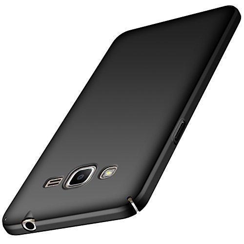 anccer Samsung Galaxy J2 Prime Hülle, [Serie Matte] Elastische Schockabsorption und Ultra Thin Design für Samsung Galaxy J2 Prime (Glattes Schwarzes)
