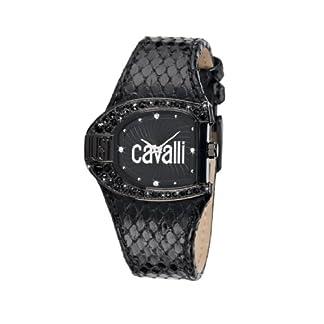 Just Cavalli R7251160825 – Reloj analógico de Cuarzo para Mujer con Correa de Piel, Color Negro
