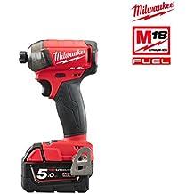 "Milwaukee 4933451790 - M18 fqid-502x atornillador de impacto m18 fuel surge silencioso, 1/4"", red lithium 5,0ah"