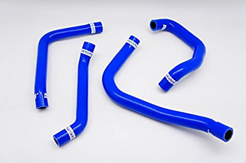 Autobahn88 Heater & Rocker Cover Air Breather Silicone Hose Kit, Model ASHK240-BL-WC (Blue -with Clamp