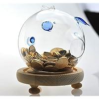 Preisvergleich für Transparentes Glas Kreative Kinder Münze Lagerung Tank Erwachsenen Klarglas Kaution Tank Schöne Ferkel Glas Geld Lagertank Sparschwein