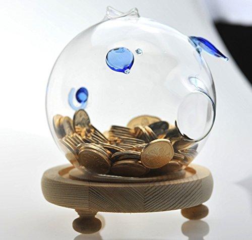 Transparentes glas kreative kinder münze lagerung tank erwachsenen klarglas kaution tank schöne ferkel glas geld lagertank - Lagerung Silber-münze