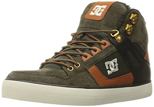 dc-spartan-high-wc-wnt-olive-tan-suede-mens-skate-trainers-boots-9