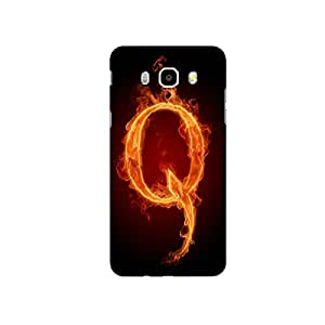Mikzy Fire Font Letter Q Isolated On Black Background Printed Designer Back Cover Case for Samsung Galaxy J5 (2016) (MultiColour)
