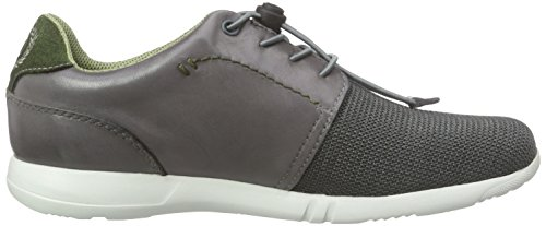 bugatti Herren Sneaker Bambola K1963-16-167 grigio, Gr. 40 - 45, in pelle / mesh, intercambiabile grau/kombi